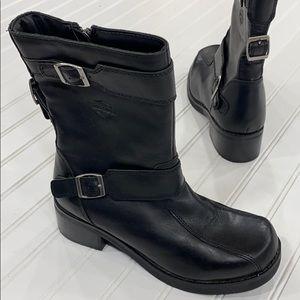 Harley-Davidson Black Leather Faylinn Riding Boots